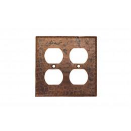 Premier Copper SO4 Copper Switchplate Double Duplex