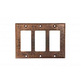 Premier Copper SR3 Copper Switchplate Triple Ground Fault/Rocker Cover