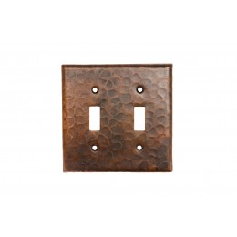 Premier Copper ST2 Copper Switchplate Double Toggle Switch Cover