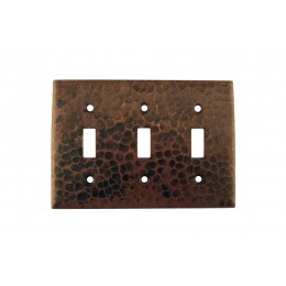 Premier Copper ST3 Copper Switchplate Triple Toggle Switch Cover