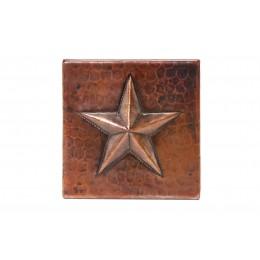 Premier Copper T4DBS 4in x 4in Copper Star Tile