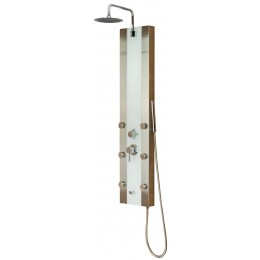 Pulse ShowerSpas 1039W-BN Tropicana Shower Panel Brushed Stainless Steel
