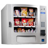 Seaga SM16S Countertop 24 Select Snack Vending Machine with Coin Bill Credit Card Silver
