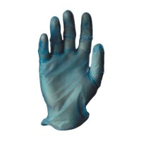 Tomlinson C-Kure Blue Vinyl Powdered Food Service Gloves Large 1000/CS