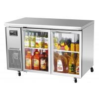 Turbo Air JUR-48-G J Series Glass Door Undercounter Side Mount Refrigerator 11 cu ft