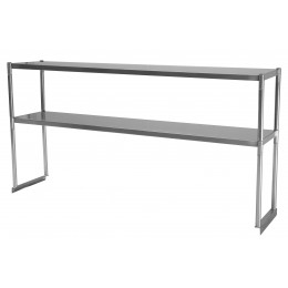 Turbo Air TSOS-5R Stainless Steel Double Overshelf 5'