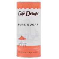 Diamond Crystal Cafe Delight Granulated Sugar Canister 20 oz Each Canister, 24 Canisters Total