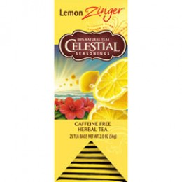 Celestial Seasonings Lemon Zinger Tea 25 Tea Bags per Pack 6 Packs